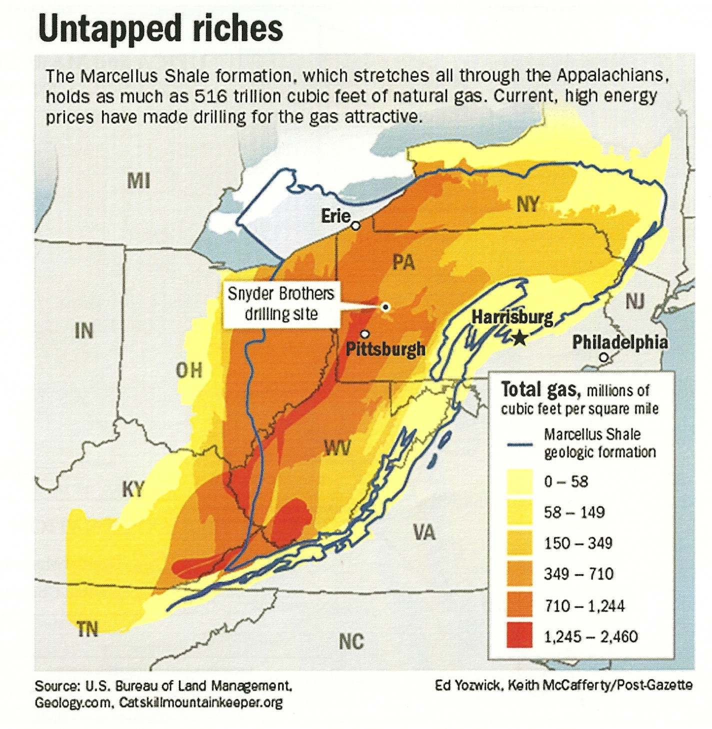 DRILLING FOR OIL AND GAS IN THE MARCELLUS AND UTICA SHALES OF - Utica shale map